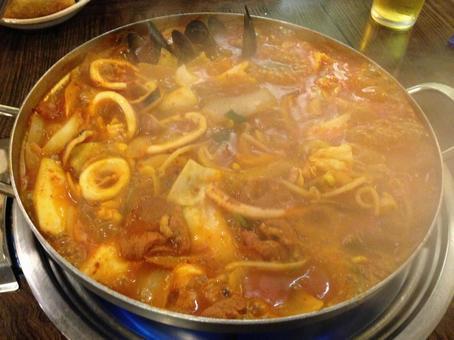 한국 요리 냄비 한국 팬