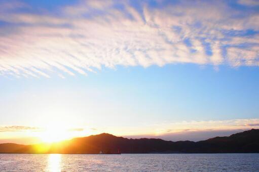 Sunrise on Gourd Island, Otsuchi Town, Iwate Prefecture