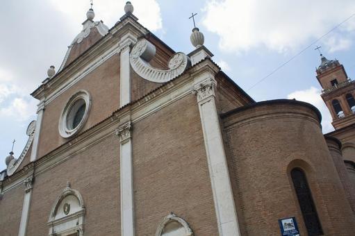 Portico San Petronio Cathedral in Bologna, Italy