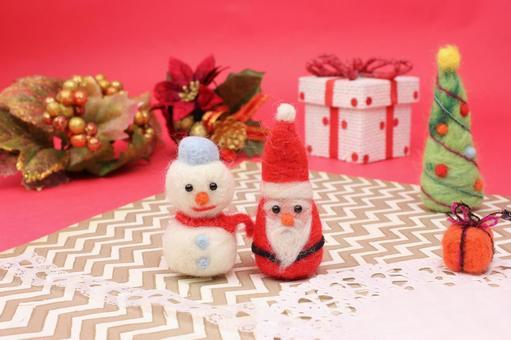 圣诞老人和雪人1