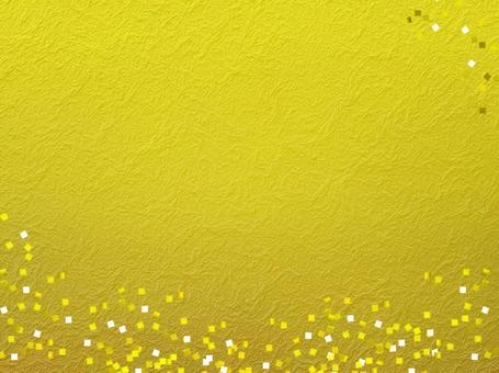 Golden Japanese paper with confetti pattern