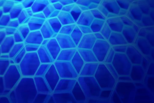 Background of honeycomb structure - Blue