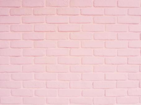Pink brick background texture