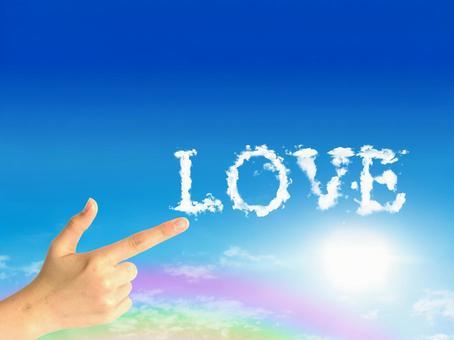 LOVE and pistol hands