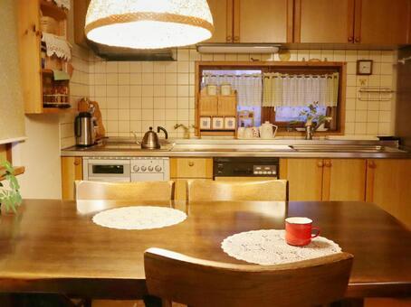 Evening dining kitchen