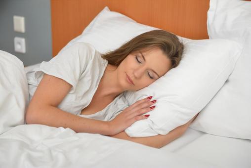 Hotel sleeping woman 4