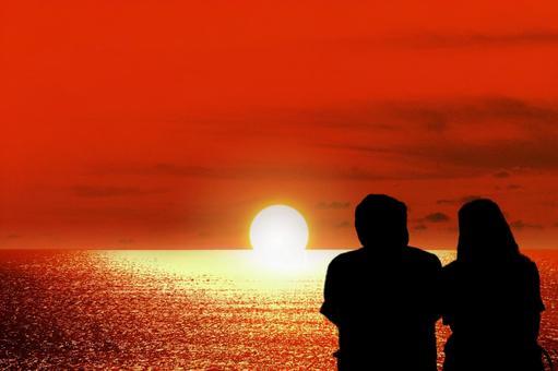 Sunset Beach and a couple