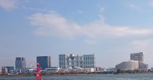 Odaiba from the sea
