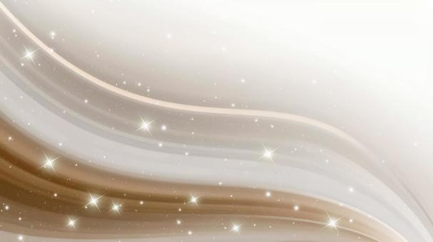 Glitter and striped wave background material (dark brown)