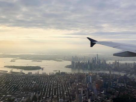 비행기에서 보이는 뉴욕