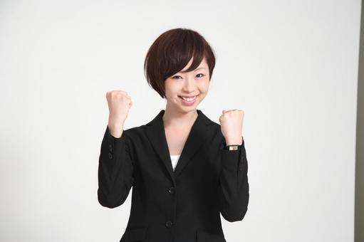 Female employee who poses guts 2