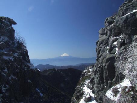 金峰山 부근에서 후지산
