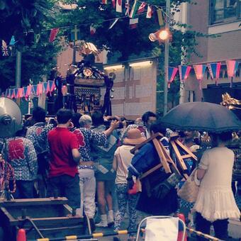 Summer festival mikoshi
