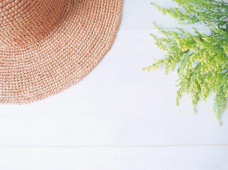 Straw hat and green (Solidako)