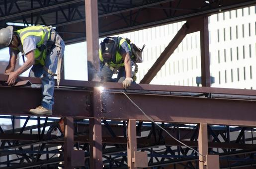 Worker performing construction work 7