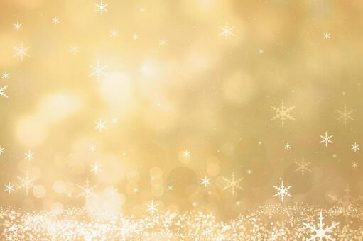 神圣的夜晚发光的黄金