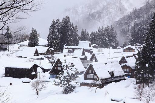 고카 야마 합장 취락 겨울 2014