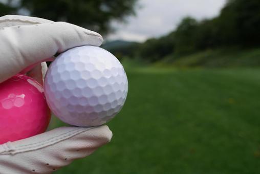 Golf ball golf course