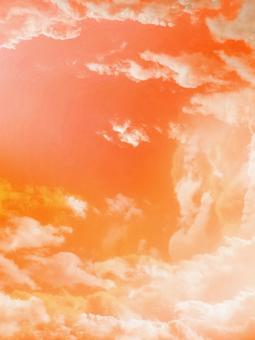 Orange sky divine clouds