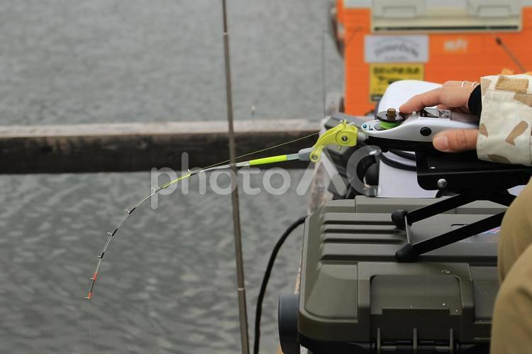 釣り人の手元の写真