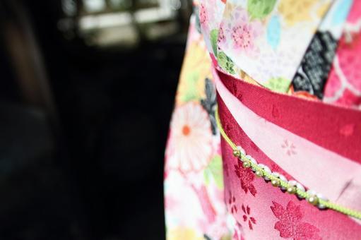 Up of a kimono belt