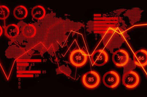 Black and red digital graph image CG background