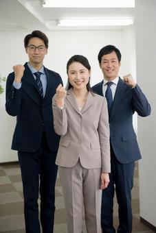 Men and women in suit shape 44