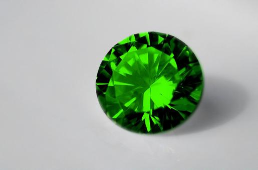 Emerald green crystal