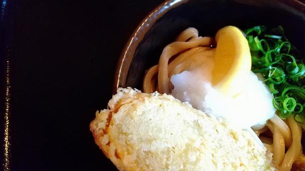 Sanuki udon sweet potato tempura bukkake udon chill