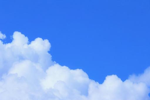 Background material copy space where the blue and white of the summer sky are vivid