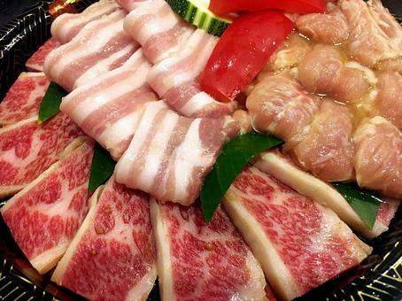 Assorted grilled meat Pork ribs Seri Top ribs
