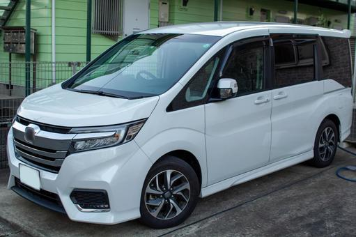 Minivan white