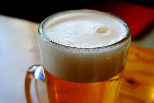 Delicious beer foam