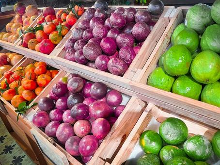 Fruits, fruits, greengrocers, supermarkets