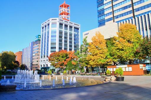 Odori Park in autumn / Morning