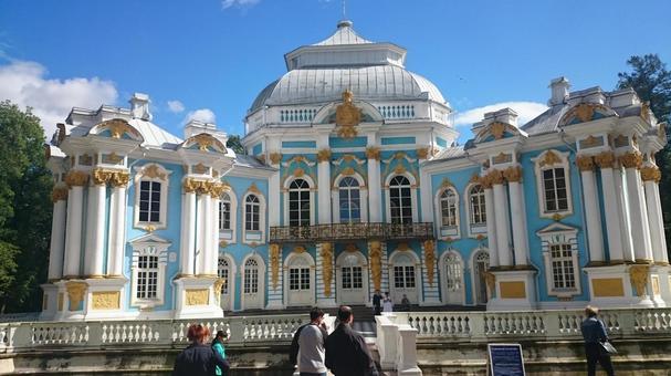 러시아 상트 페테르부르크 차루스코에 데 로스의 카테리나 공원 내의 건물