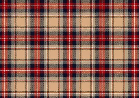 Plaid beige and red
