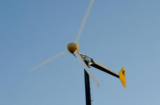 Blue sky and windmill (propeller type 3 blades) 2