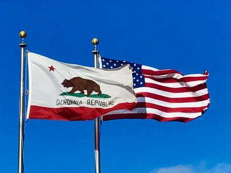 星條旗加利福尼亞州州旗美國