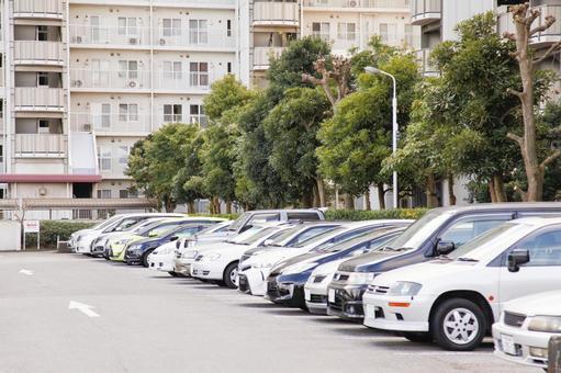Parking lot of condominium