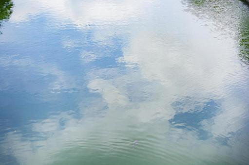 River with blue sky