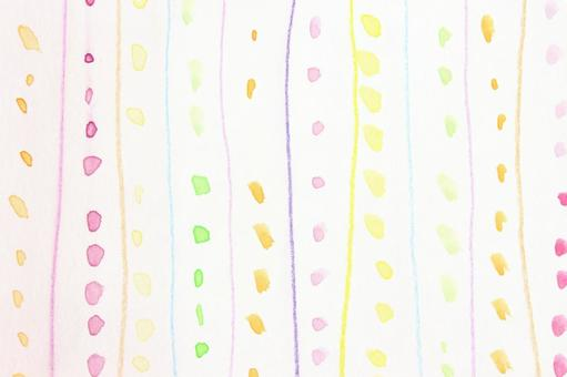Watercolor dot and line 3