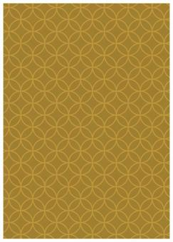 Japanese pattern texture stars Cloisonne ocher color