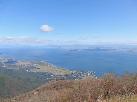 Lake Biwa Superb view from Mt.