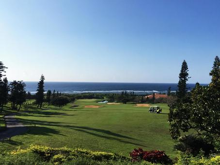 Golf course with sea view