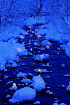 Otaru snow light path (Asuri River venue) 4