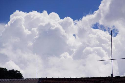 Sao Paulo summer clouds and blue sky Brazil