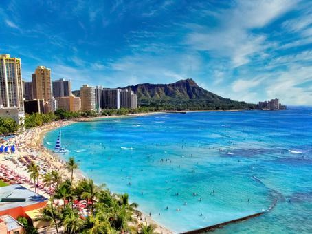 하와이 와이키키 비치 3