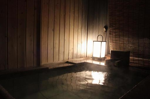 Guest room with open-air bath