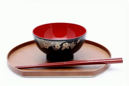 Tea bowl and chopsticks